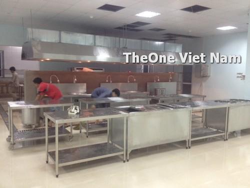 lắp đặt bếp công nghiệp inox tại Hà Nội