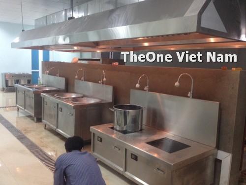 lắp đặt bếp công nghiệp inox tại khu công nghiệp phía Bắc