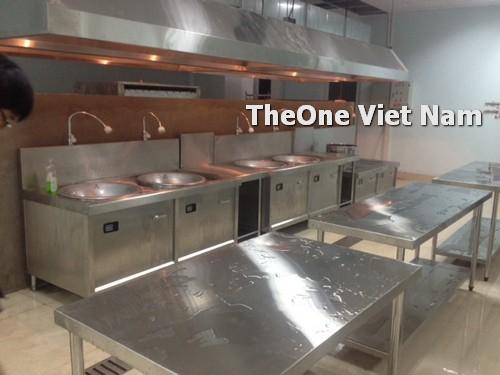 lắp đặt bếp công nghiệp inox tại Nam Định