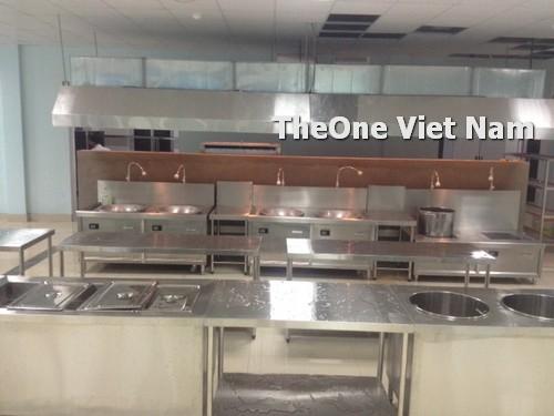 lắp đặt bếp công nghiệp inox tại Thái Bình