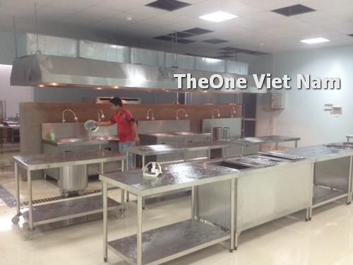 lắp đặt bếp công nghiệp inox tại Nghệ An