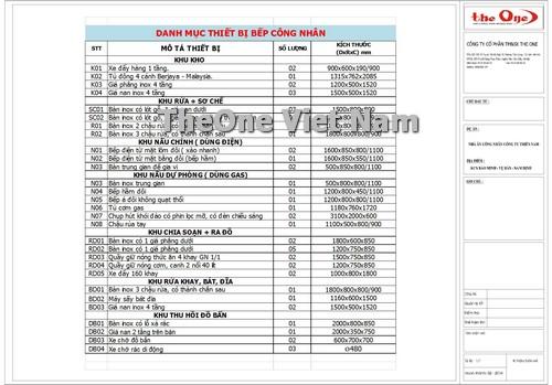 cung cấp, thiết kế, lắp đặt bếp công nghiệp tại Nam Định